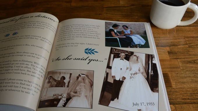 Sample printed book produced by Storyography by Tricia